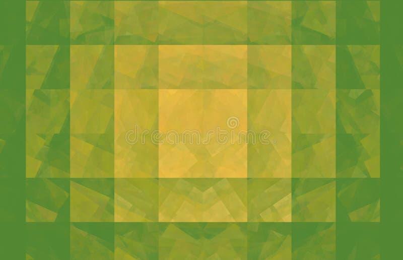 绿色和黄色背景 幻想样式纹理 r 3d?? 计算机生成的图象 库存例证