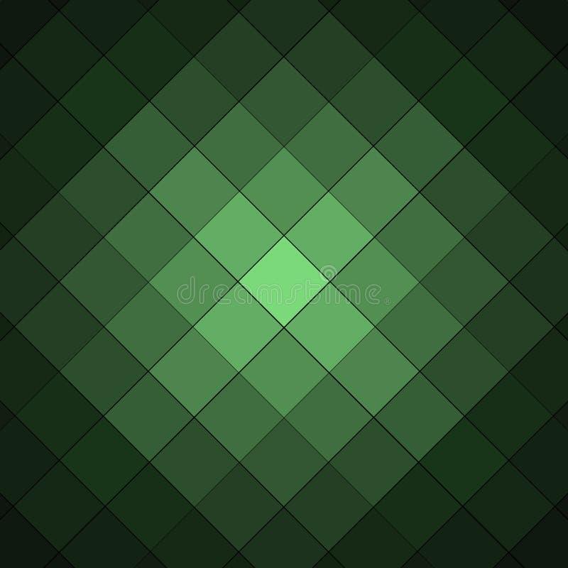 绿色和黑方格的背景样式 向量例证
