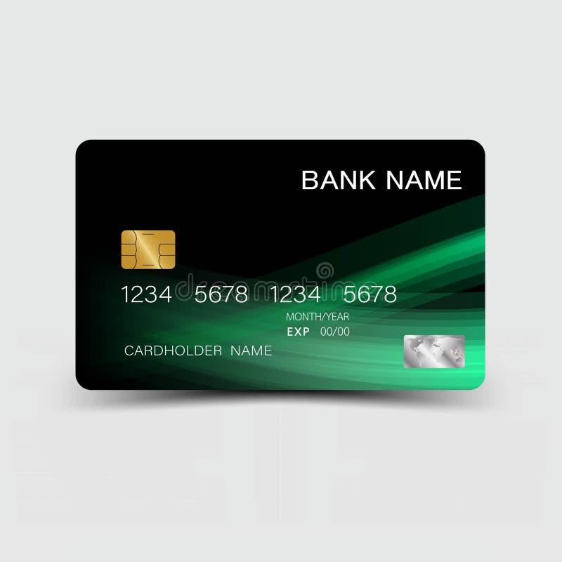 创造性和信用卡设计 皇族释放例证