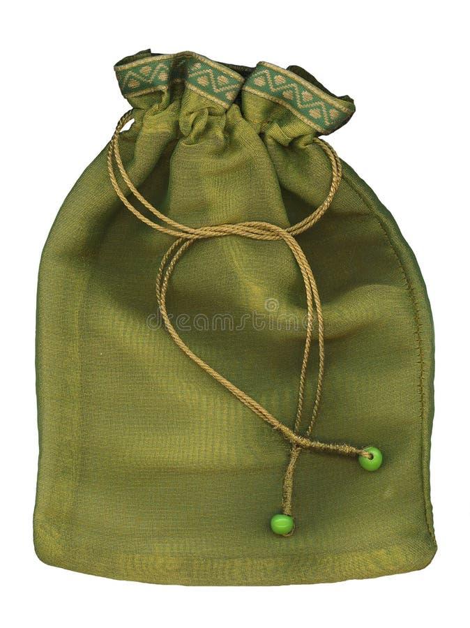 绿色囊大袋 免版税图库摄影
