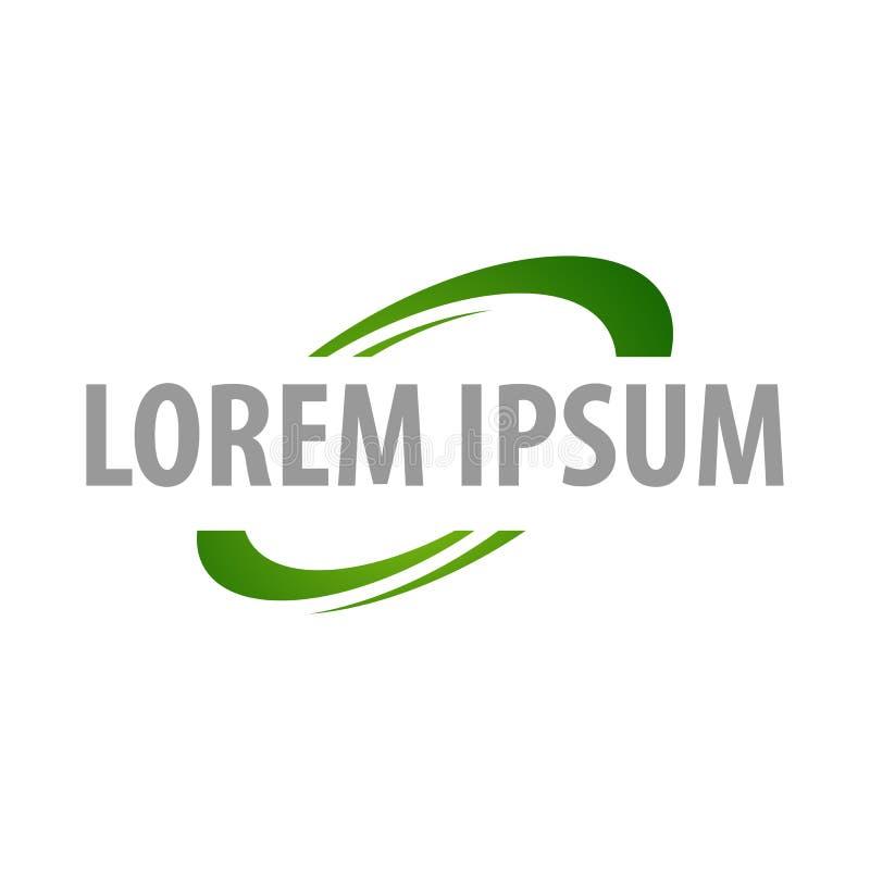 绿色回收的构思设计 标志图表模板元素传染媒介 库存例证