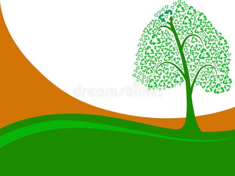 绿色回收结构树 皇族释放例证