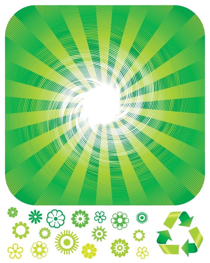 绿色回收 皇族释放例证