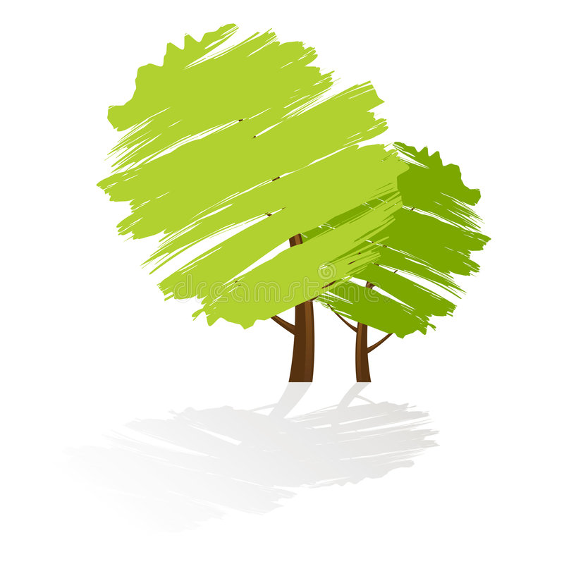 绿色图标结构树 向量例证