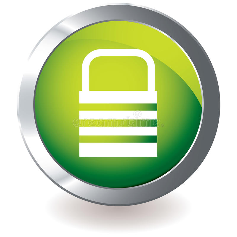 绿色图标锁定 向量例证