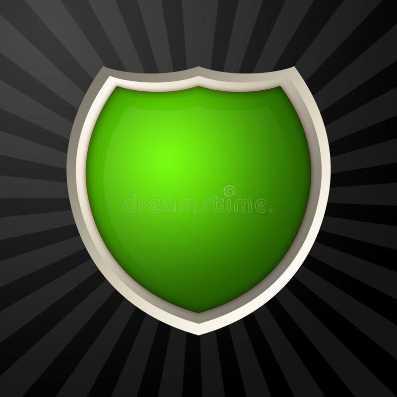 绿色图标 皇族释放例证