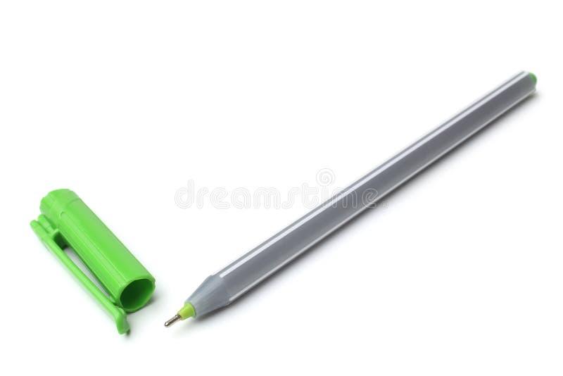 绿色圆珠笔 库存图片