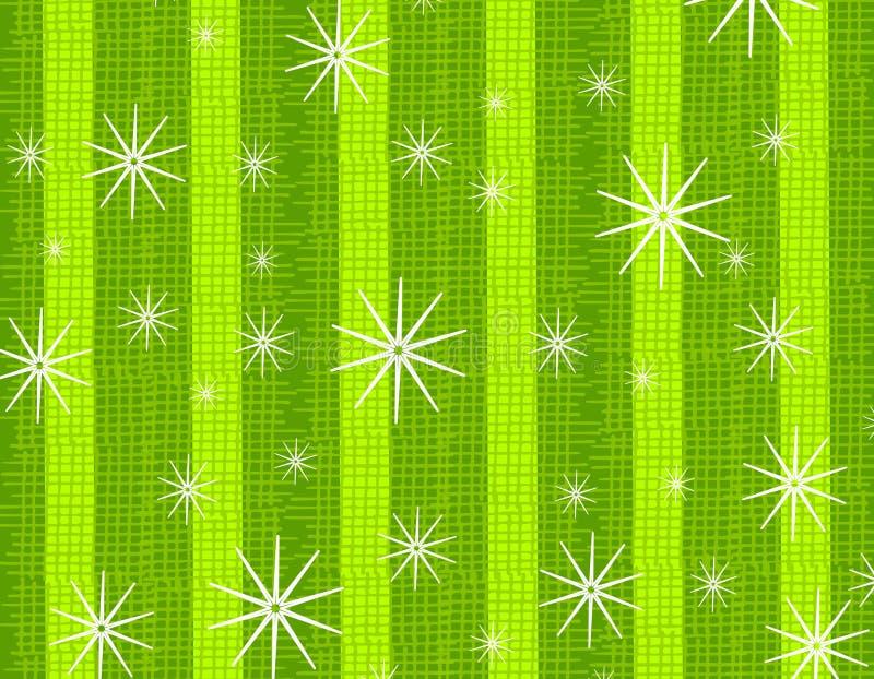 绿色土气雪花纹理 向量例证