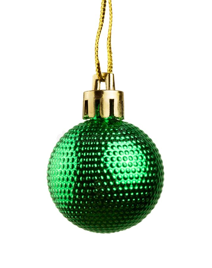 绿色圣诞节球 库存图片