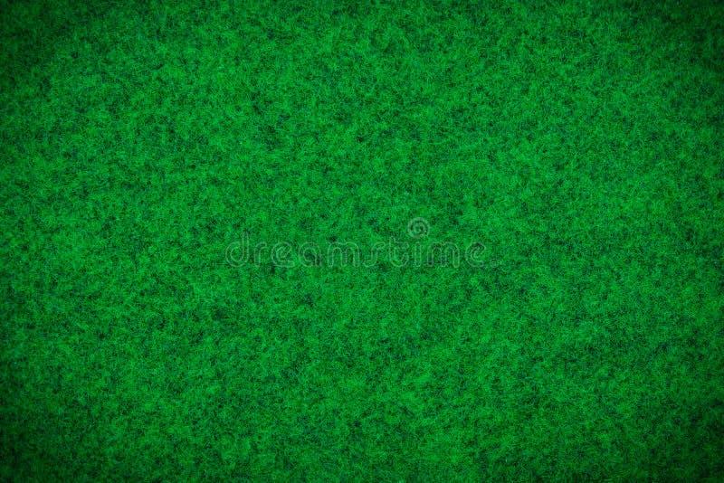 绿色地毯或绿色毛织物品纹理背景 免版税库存照片