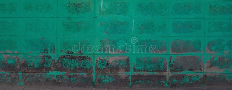 绿色块墙壁样式 免版税库存照片