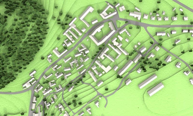 绿色城市设计 向量例证