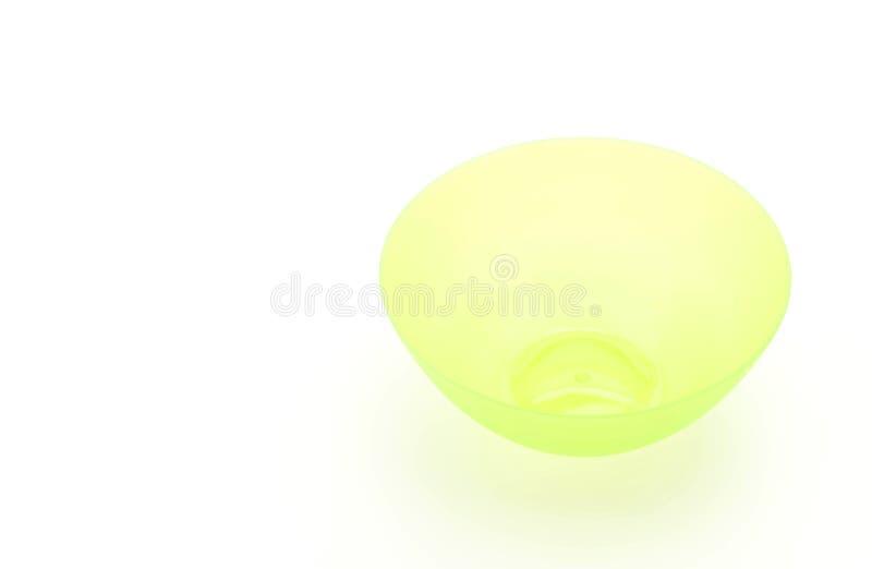 绿色塑料碗 库存图片
