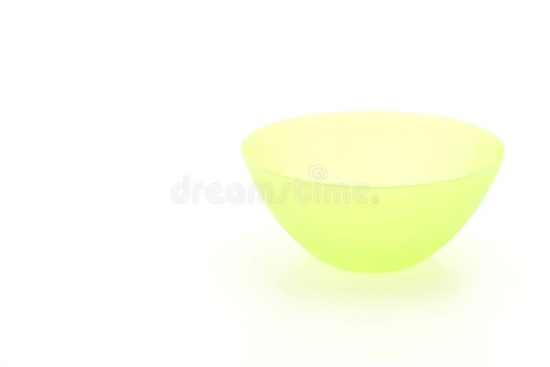 绿色塑料碗 库存照片
