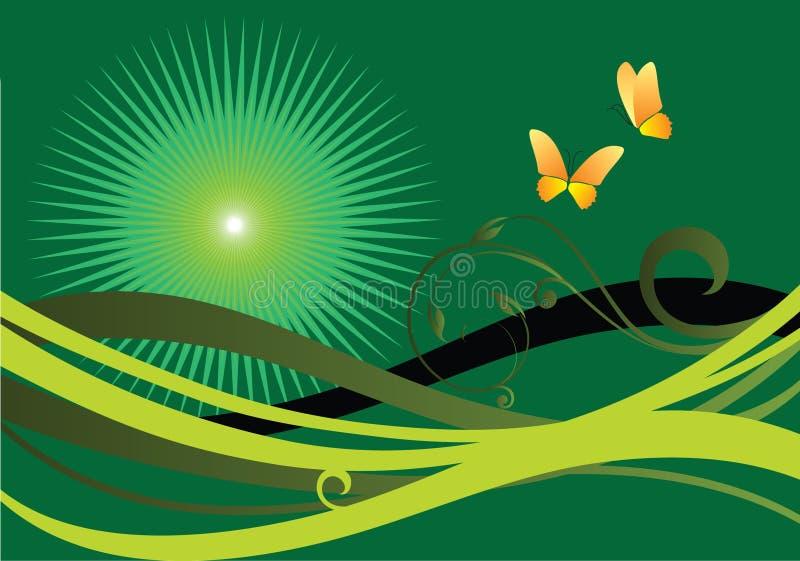 绿色夏天 向量例证
