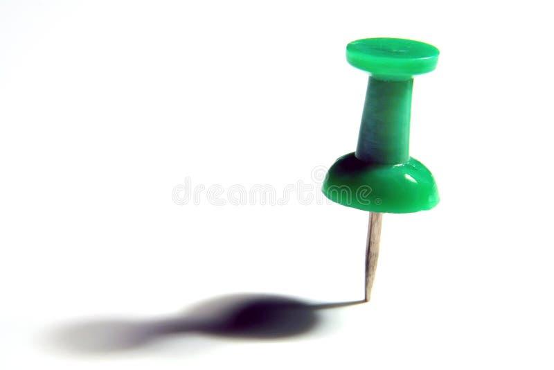 绿色大头钉略图 免版税图库摄影
