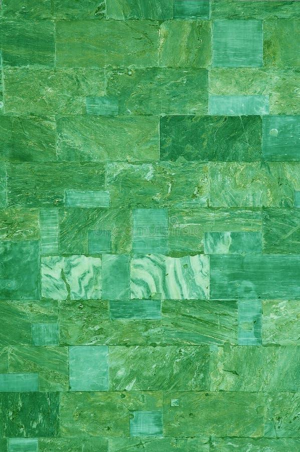 绿色大理石瓦片 免版税库存照片