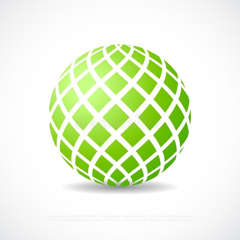 绿色天体象 库存例证