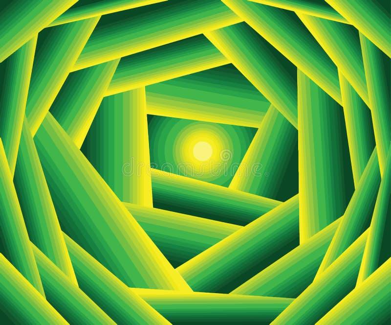 绿色太阳 攀爬颜色做美好的背景 库存例证