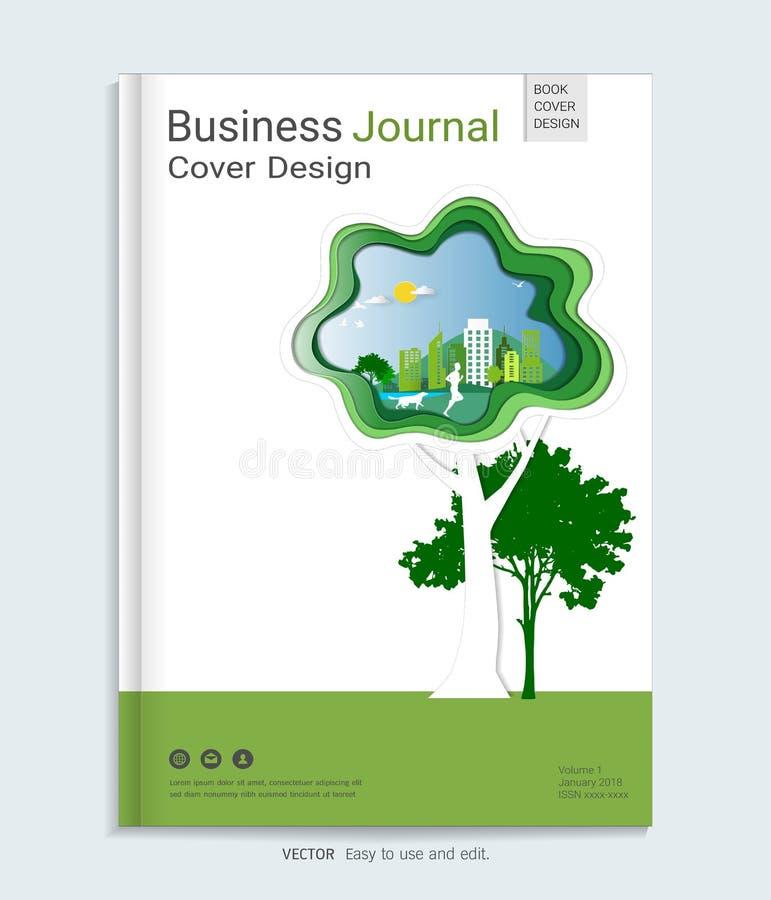 绿色学报盖子设计模板 皇族释放例证