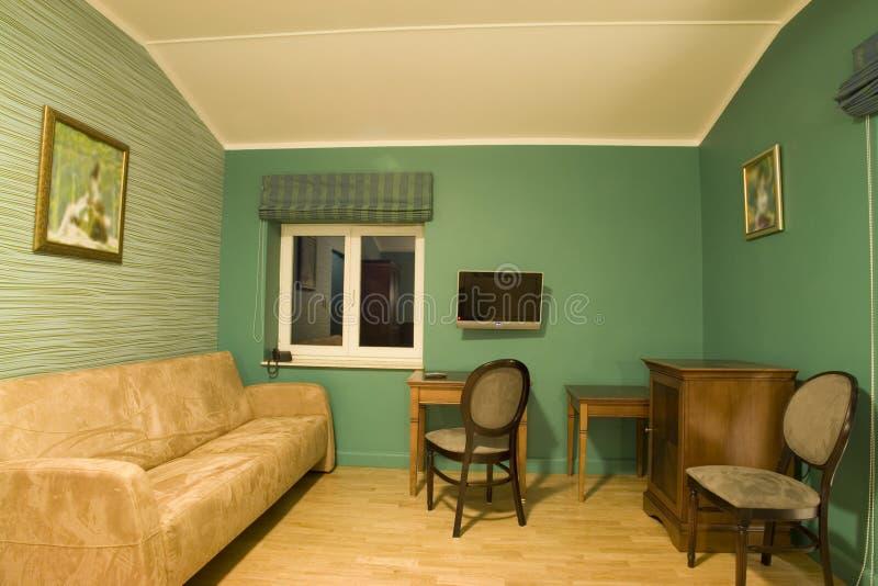 绿色客厅 库存照片