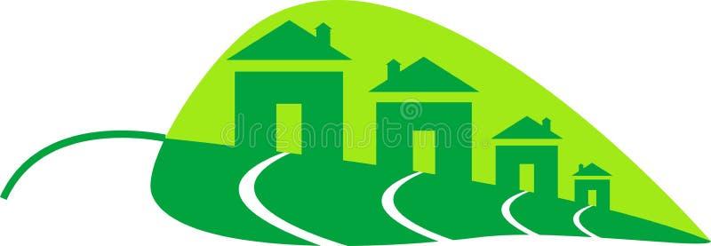绿色家 向量例证