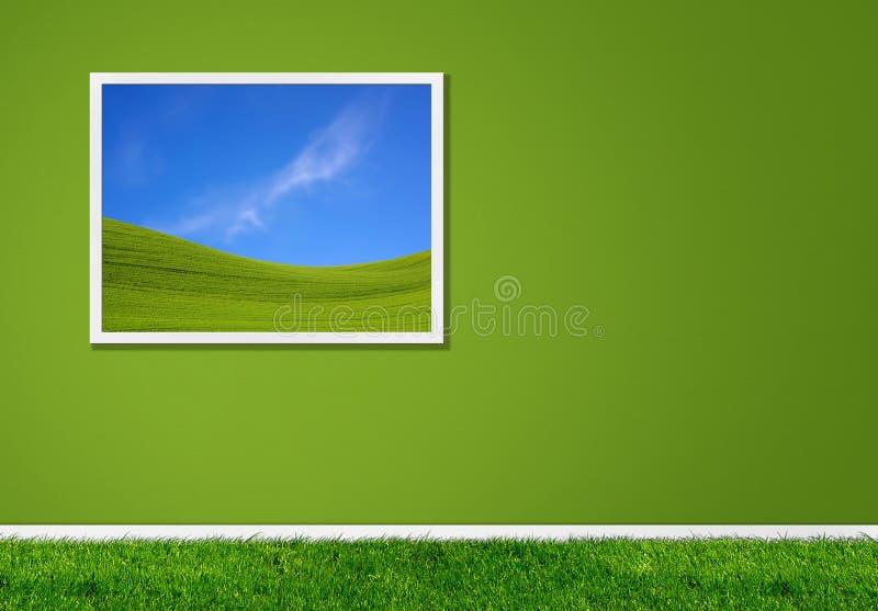 绿色家 免版税库存照片