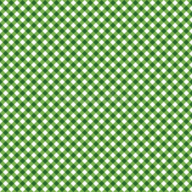 绿色对角方格花布无缝的样式 向量例证