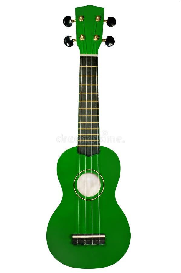 绿色尤克里里琴 免版税库存图片