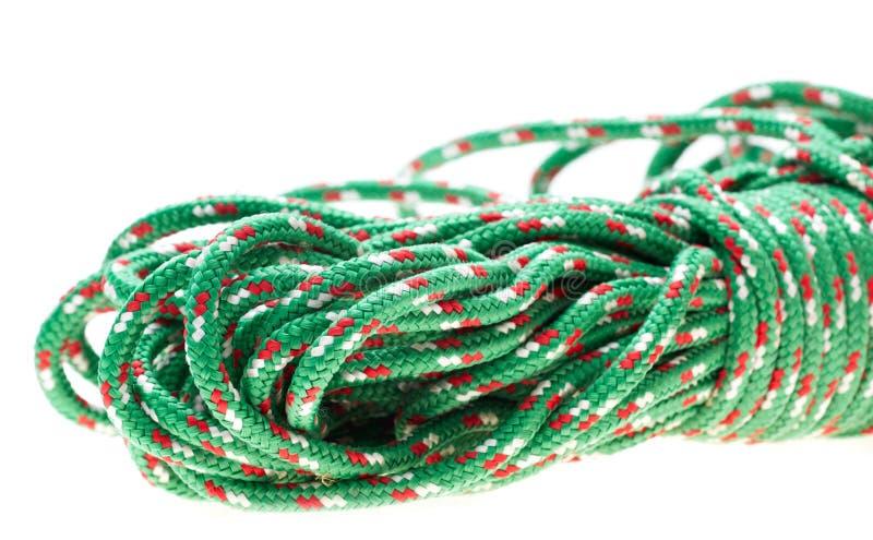 绿色尼龙绳索 免版税库存图片
