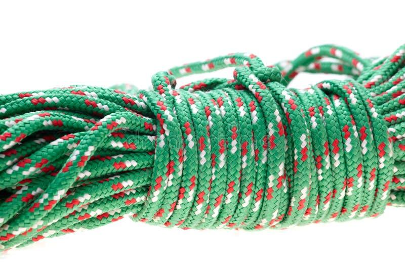 绿色尼龙绳索 图库摄影