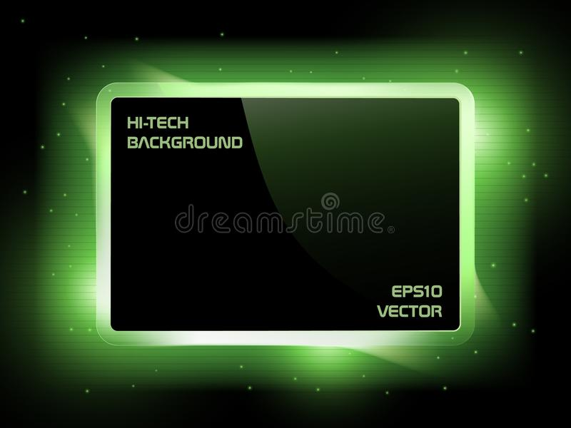 绿色屏幕 向量例证