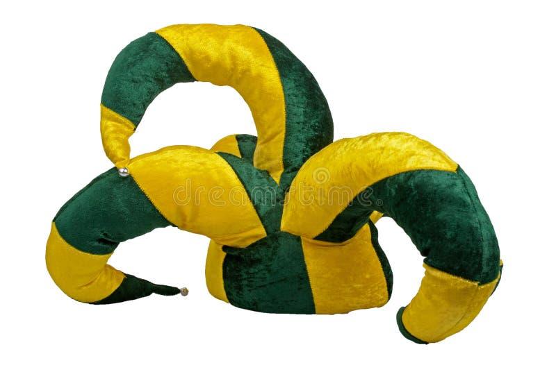 绿色帽子说笑话者黄色 向量例证