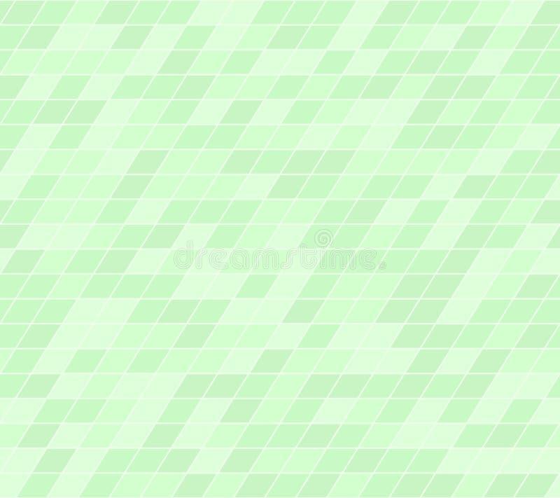 绿色平行四边形样式 无缝的传染媒介 向量例证