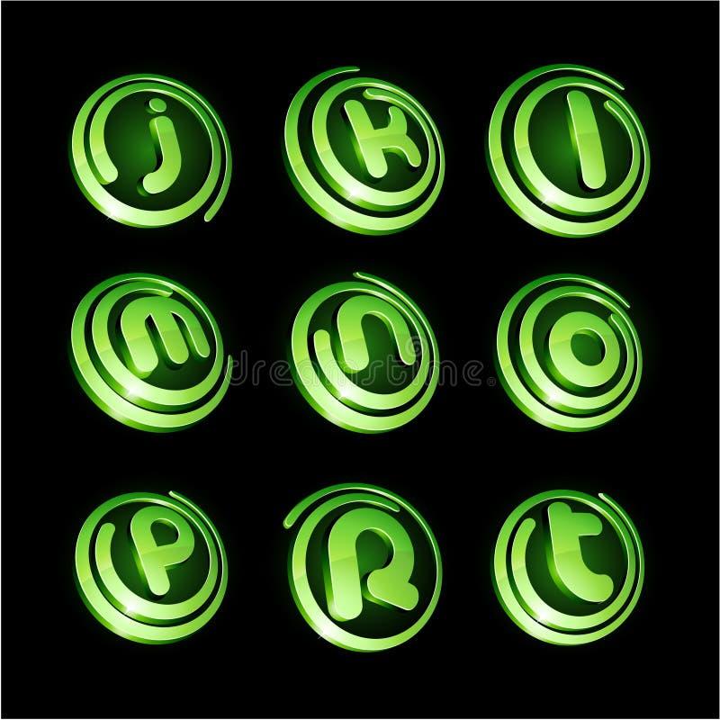 绿色徽标集合充满活力 向量例证