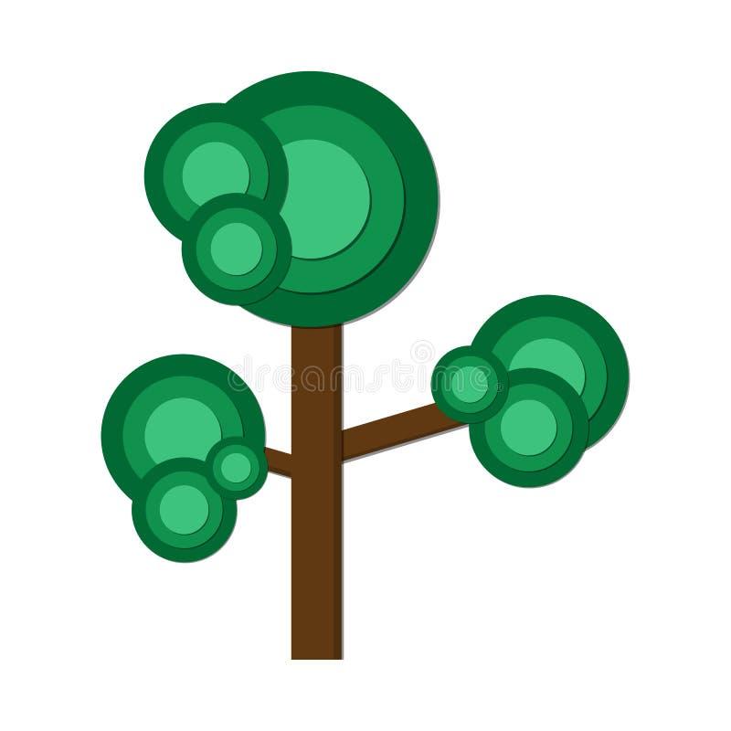 绿色您的商标的树平的象传染媒介例证设计,网站,社会媒介,流动app 向量例证