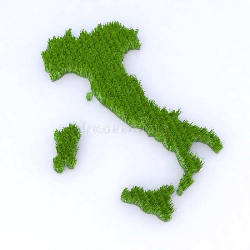 绿色意大利 库存例证
