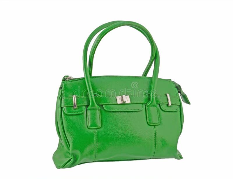 绿色手袋 免版税图库摄影