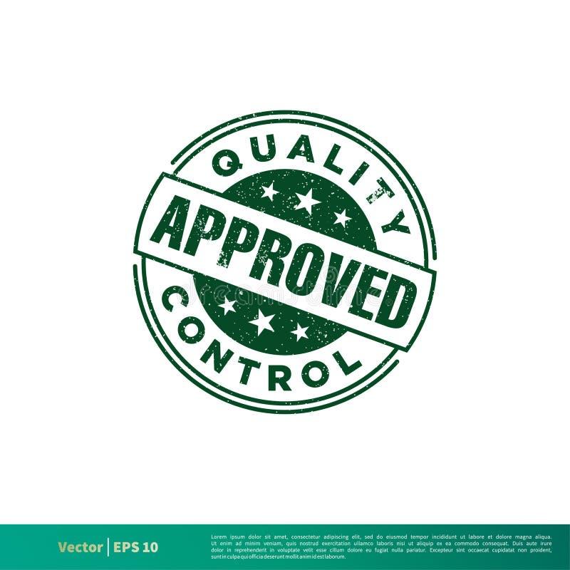 绿色批准的邮票难看的东西传染媒介模板例证设计 o 库存例证