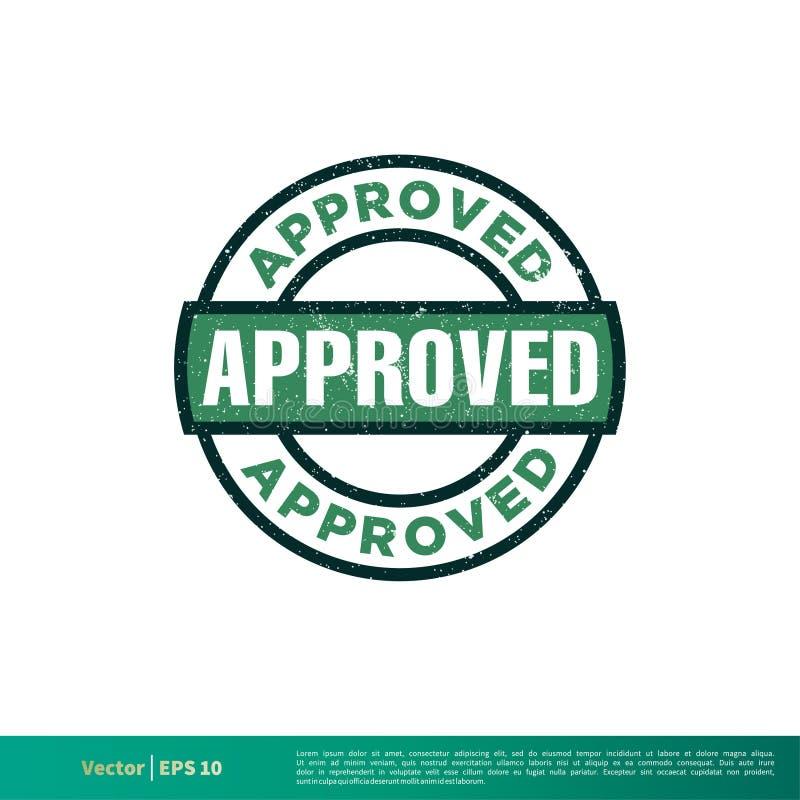 绿色批准的邮票难看的东西传染媒介模板设计例证设计 o 向量例证