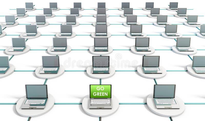 绿色技术 皇族释放例证