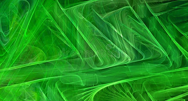 绿色抽象分数维背景 库存照片