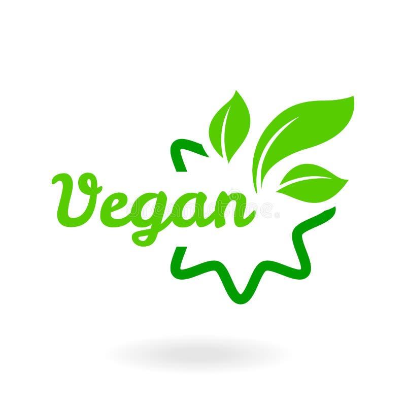 绿色抽象在白色背景的叶子象自然集合 生物素食主义者,生态,有机商标,标签,标记 向量例证