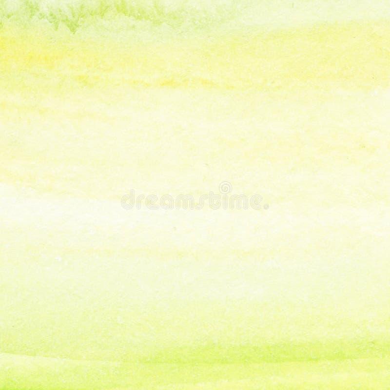绿色抽象水彩飞溅 您的湿水彩下落 向量例证