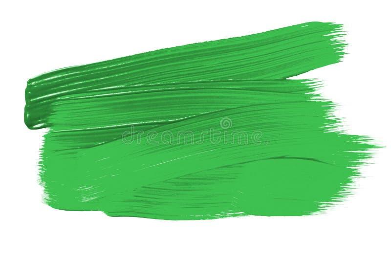 绿色抽象aquarel水彩背景 五颜六色的绿色丙烯酸酯的水彩刷子冲程 免版税库存图片