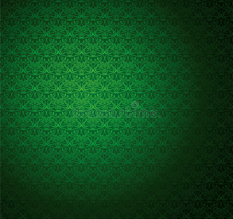 绿色数据条无缝的墙纸。 皇族释放例证