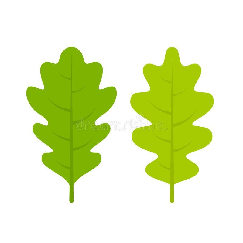 绿色新橡木传单传染媒介例证 皇族释放例证