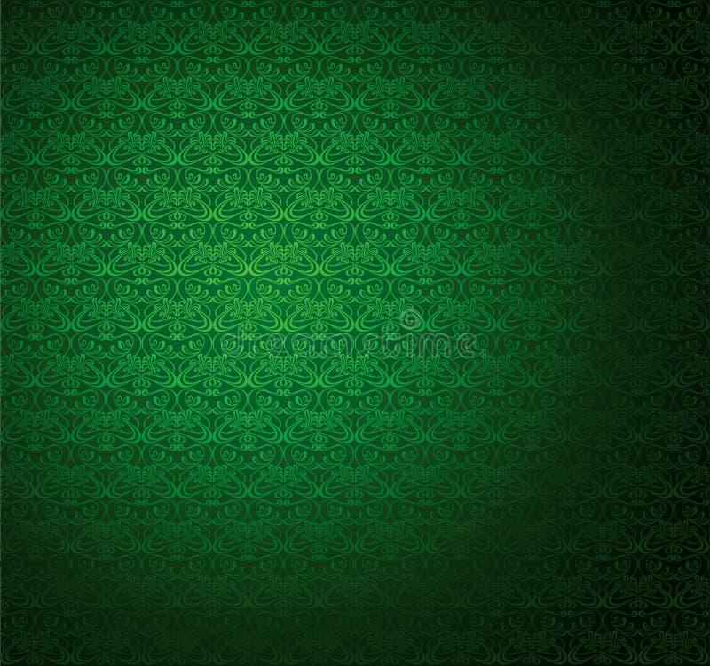 绿色无缝的数据条墙纸 皇族释放例证