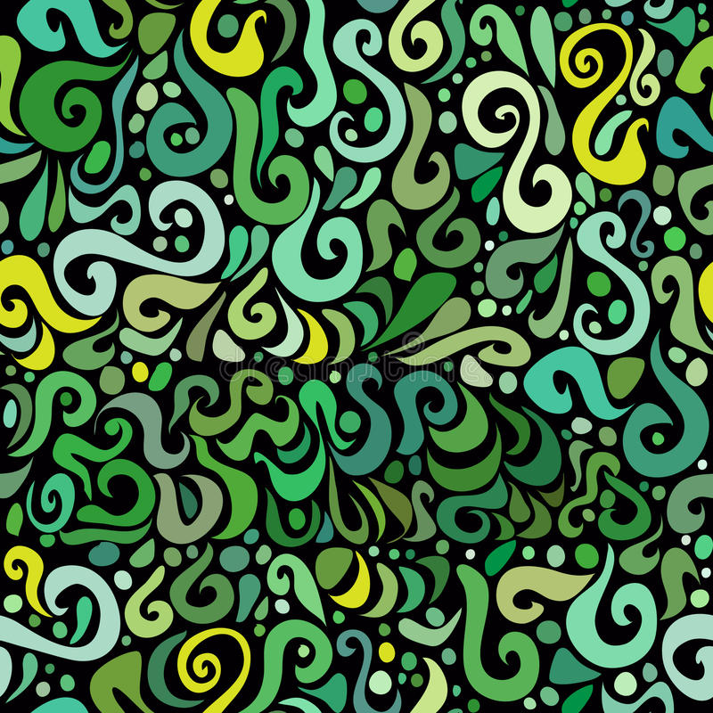 绿色无缝的模式。 免版税库存图片