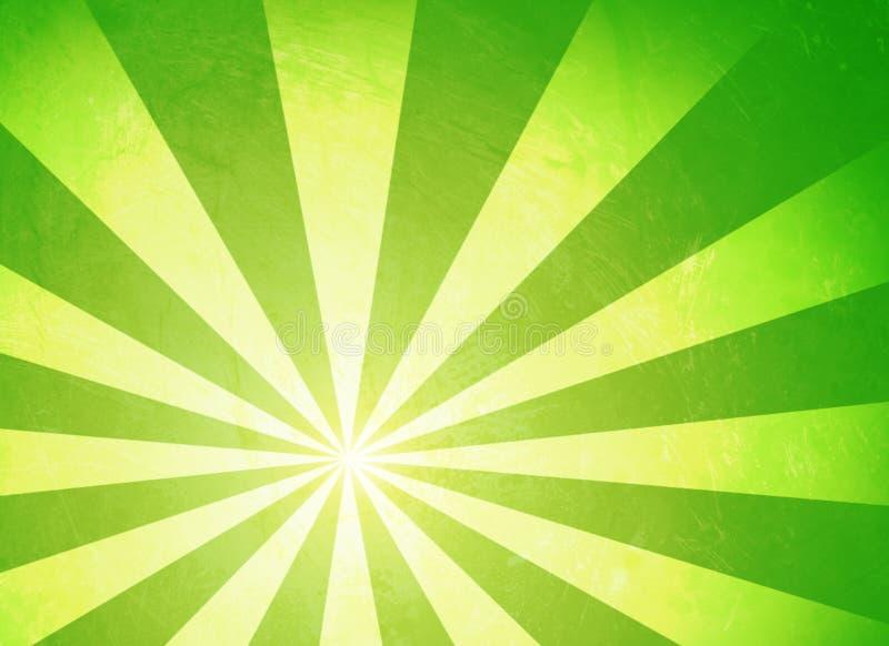 绿色旭日形首饰 库存例证